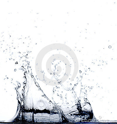 Free Water Falling In Water Royalty Free Stock Photos - 2279678