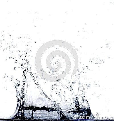Water Falling in Water