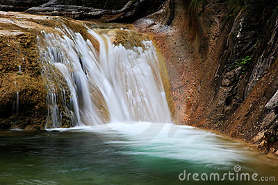 Water falls and cascades of Yun-Tai Mountain China