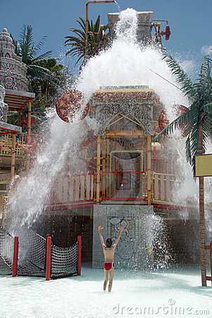 Water falls of the lost city attraction