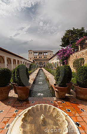 Water feature in the Generalife of the Alhambra