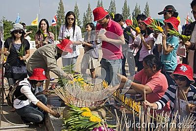 Water festival Loy Krathong Editorial Stock Image