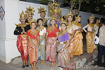Water festival Loy Krathong Editorial Photography
