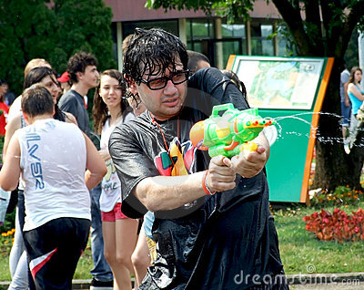Water fight Editorial Image