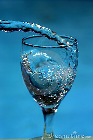 Water filling glass