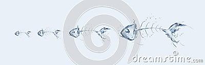 Water Fishbone Chain