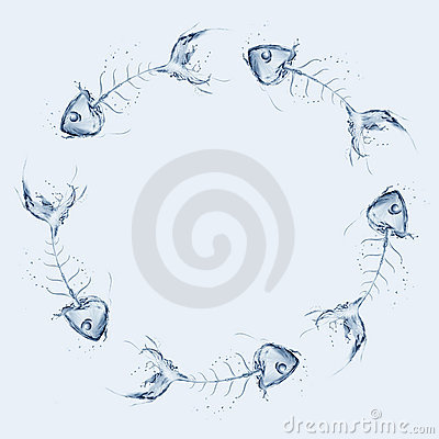 Water Fishbone Circle