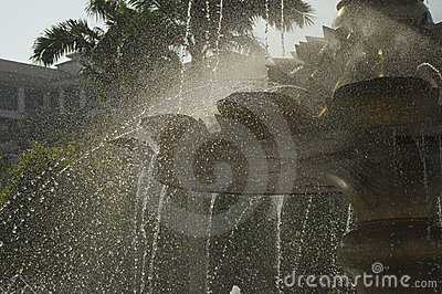 Water flashing motion of fountain