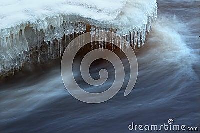 Water flow closeup
