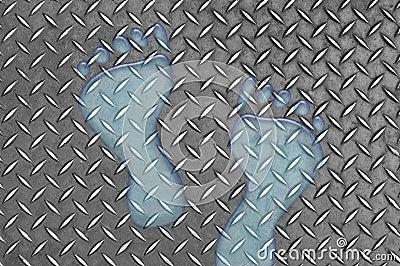 Water Footprints on Metal