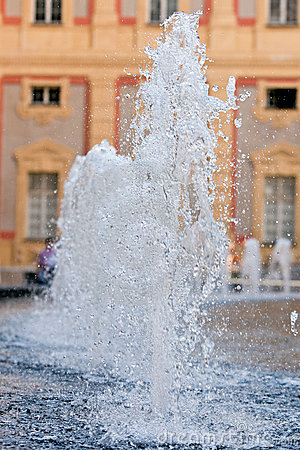 Water fountain on Genoa s main square