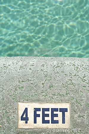 Water four feet deep swimming pool background