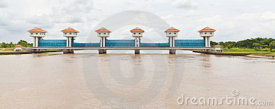 The water gate of BangPaKong River
