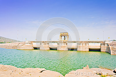 Water gate in Ubolrat dam, Thailand