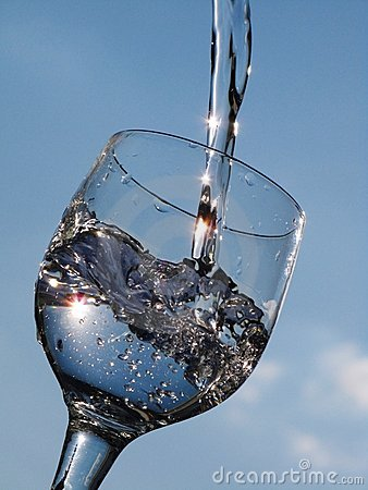 Water and glass