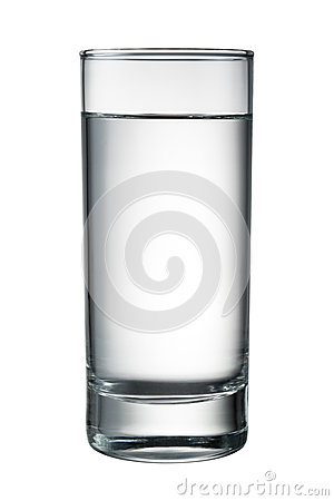 Free Water Glass Isolated On White. With Clipping Path Royalty Free Stock Images - 69394709