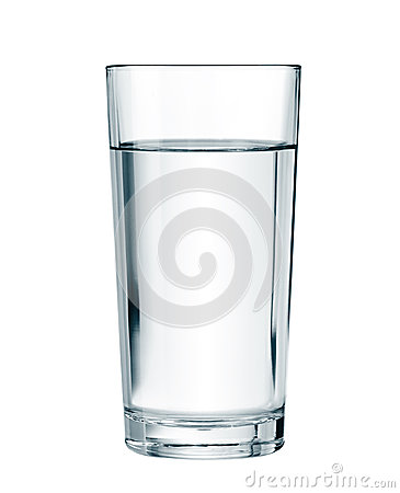 Free Water Glass Isolated With Clipping Path Royalty Free Stock Images - 31875509