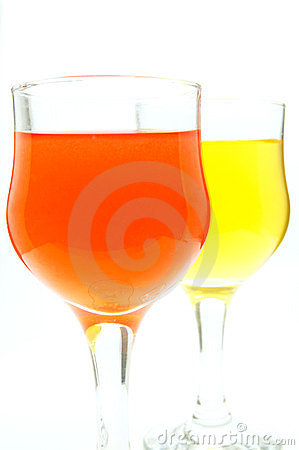 Water glass with orange and yellow colors