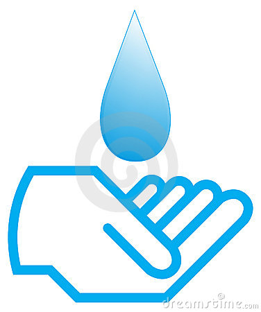 Water with hand