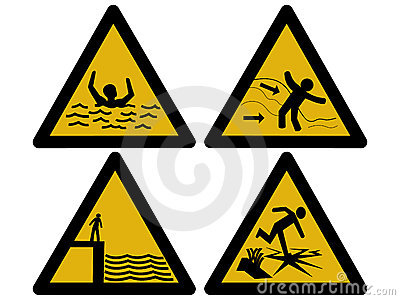 Water hazard signs