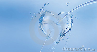 Water Heart with Arrow