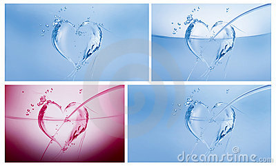 Water Hearts Collage