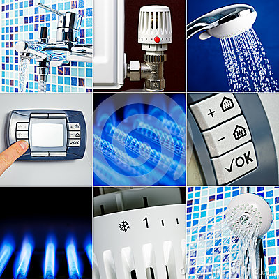 Water heating set stock photos image 33572803 for Heat setting for home