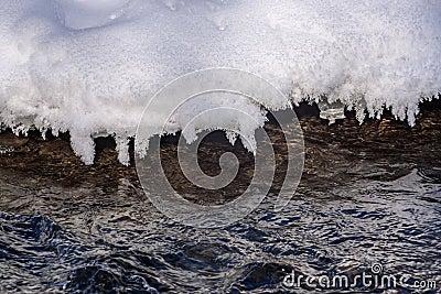 Water ice snow pattern flow Stock Photo