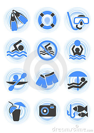 Free Water Icons Stock Photos - 10440263