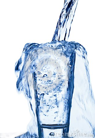 Water is introduced into a glass of water