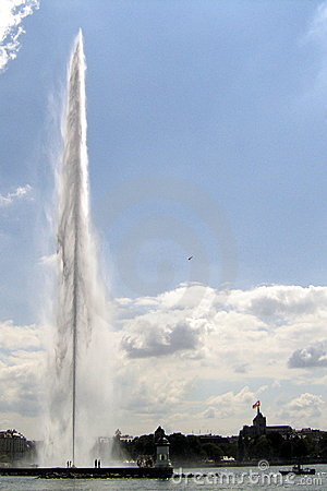 The Jet d Eau Fountain