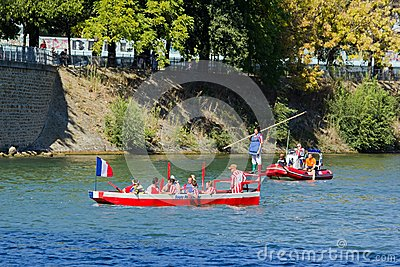 Water jousting, Parisian joust Editorial Stock Image