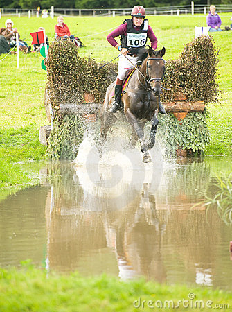 The water jump at Blair Castle. Editorial Photography