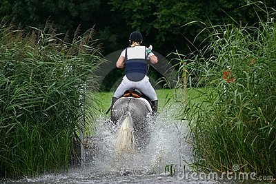 Water jump cross-country