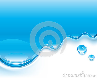 A water layout with bubbles