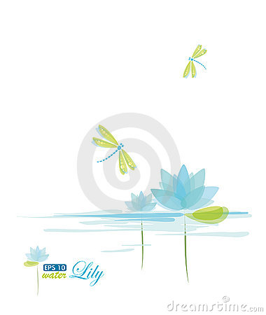 Free Water Lili And Dragonfly Stock Image - 18334411