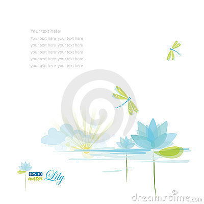 Free Water Lili And Dragonfly Royalty Free Stock Photography - 18334417