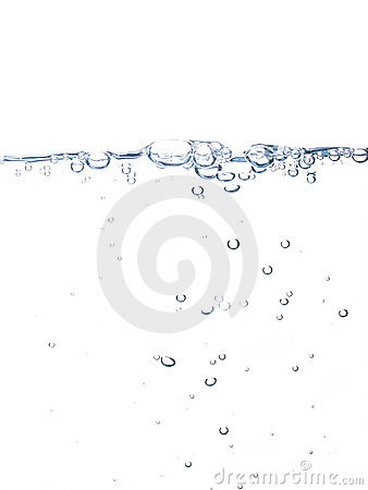 Free Water Line With Bubbles Stock Images - 15291114
