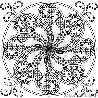 Water mandala round ornament