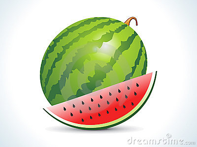 Water melon fruit with slice