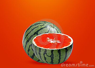 Water melon and Orange inside