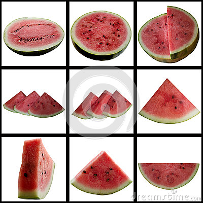 Water-melon on a white background.