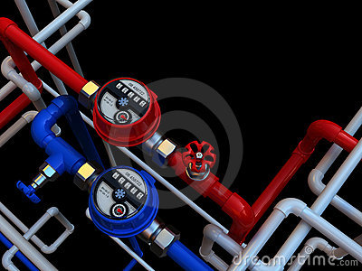 Water meters and taps