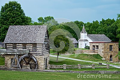 Water Mill Town Shoal Creek Living History Museum Editorial Photo