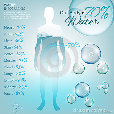 Water in nature Vector Illustration