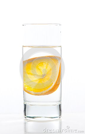 Water and orange