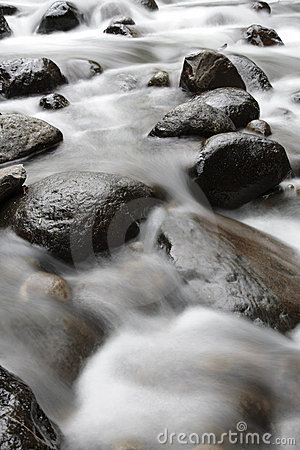 Water over rocks