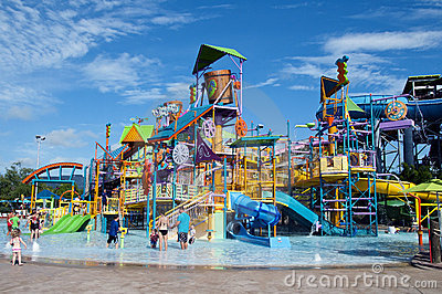 Water Park Editorial Photography