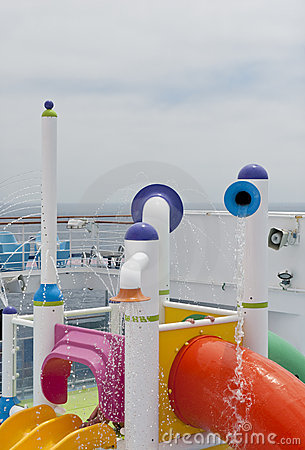 Water park on cruise ship