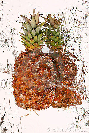 Water and pineapple